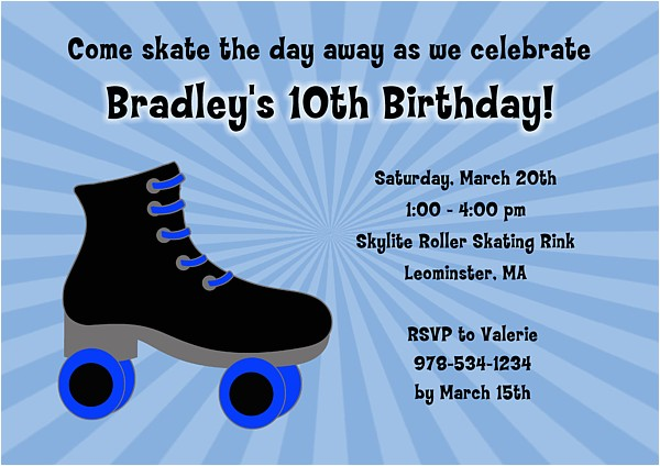 Roller Skating Invitations for Birthday Party Roller Skating Birthday Party Invitations Eysachsephoto Com
