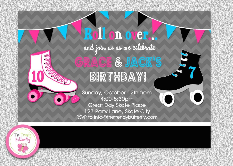 siblings roller skating birthday