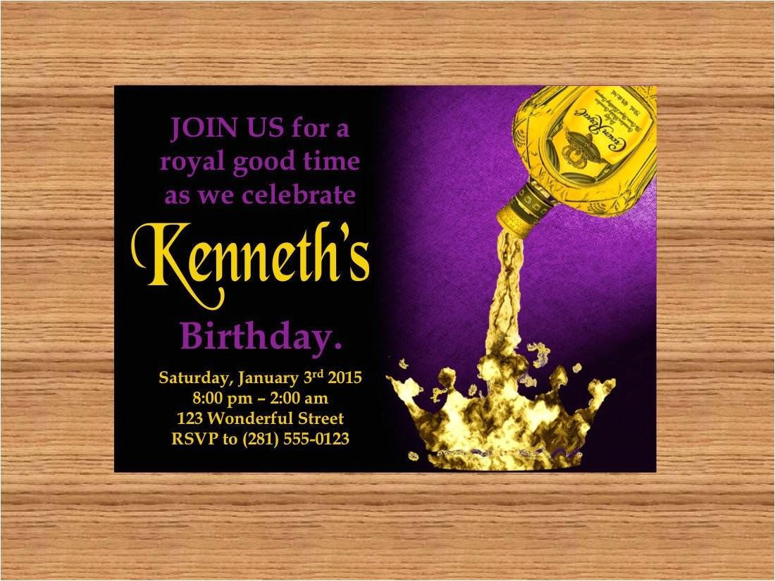 printable custom invitation crown royal
