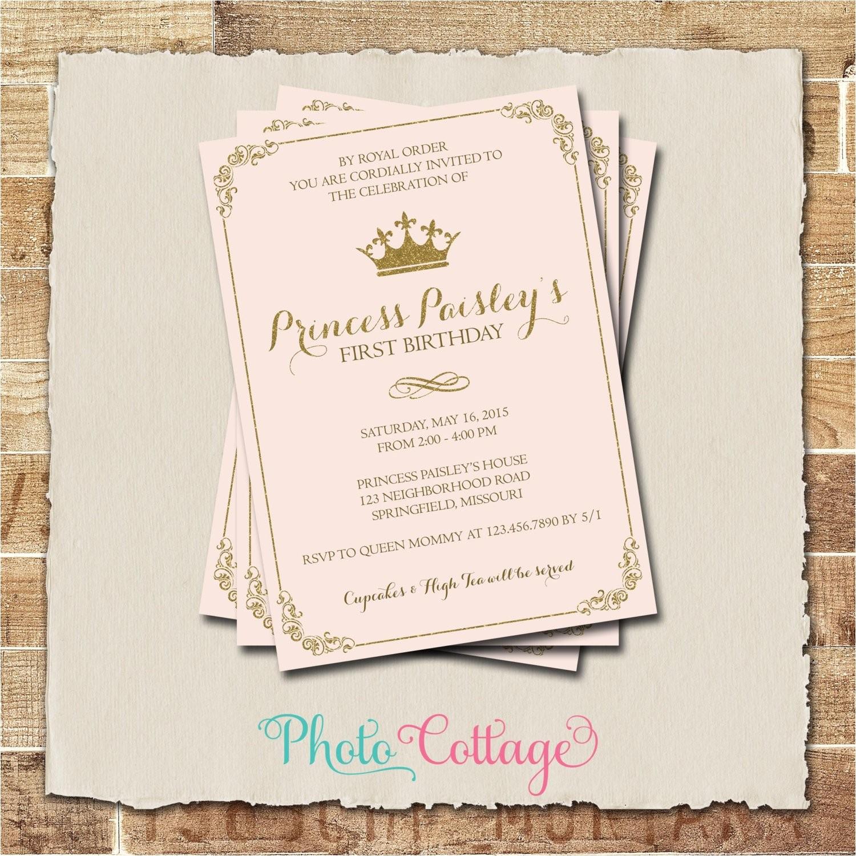 royal birthday invitation princess