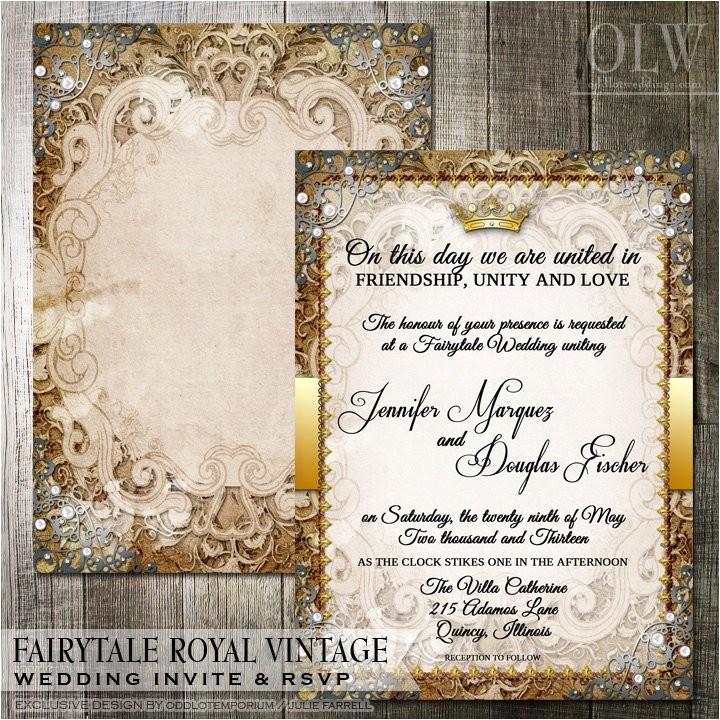 vintage fairytale royal wedding