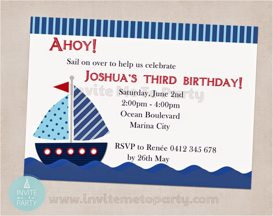 sailboat birthday party nautical