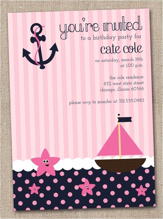 nautical girls birthday party