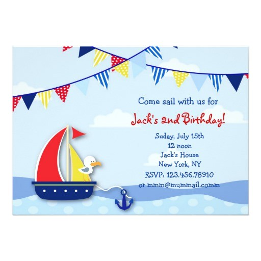 nautical sailboat birthday party invitations 161524730889892322