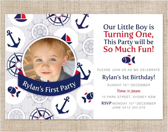 sailboat birthday invitations ideas