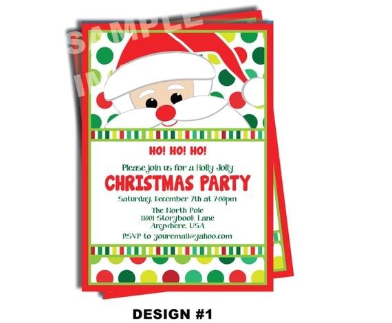 santa claus invitation santa birthday party