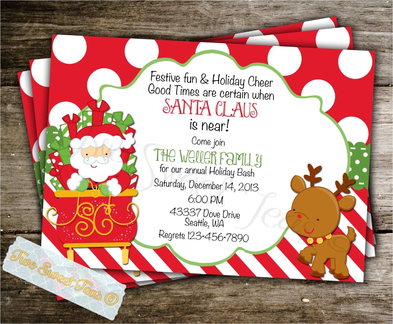 santa invitation christmas holiday