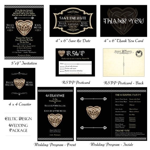 celtic wedding printable package