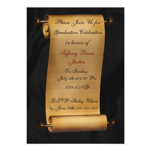 elegant scroll graduation party invitation 161077008258088608