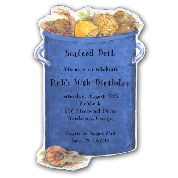 big diecut seafood boil party invitations clearance p 73 21789dc