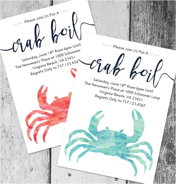 crab boil invitation printable crab boil