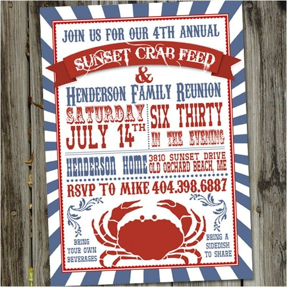 crab feed or seafood boil printable