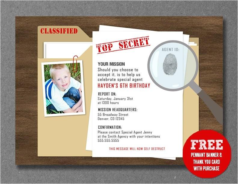secret agentspydetective birthday