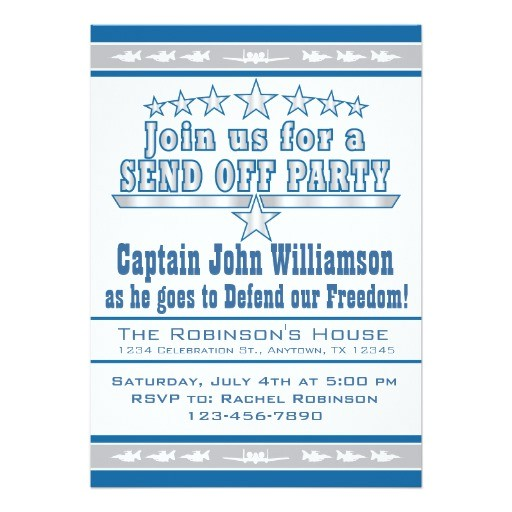 air force send off deployment party invitation 161167732255599458
