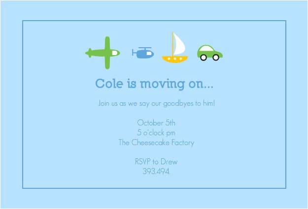 send off party invitation wording
