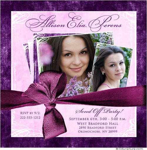 photo trunk party invitation