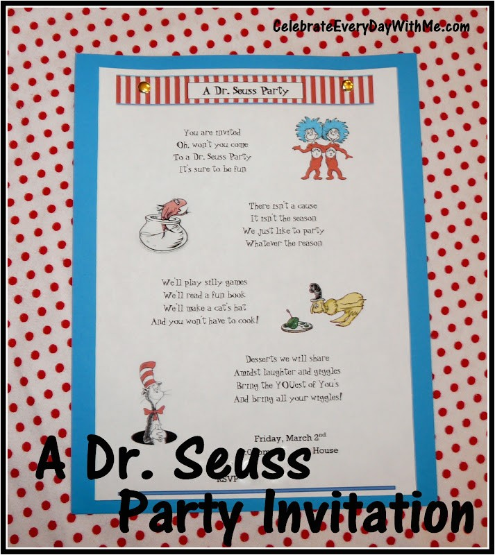 send a dr seuss party invitation