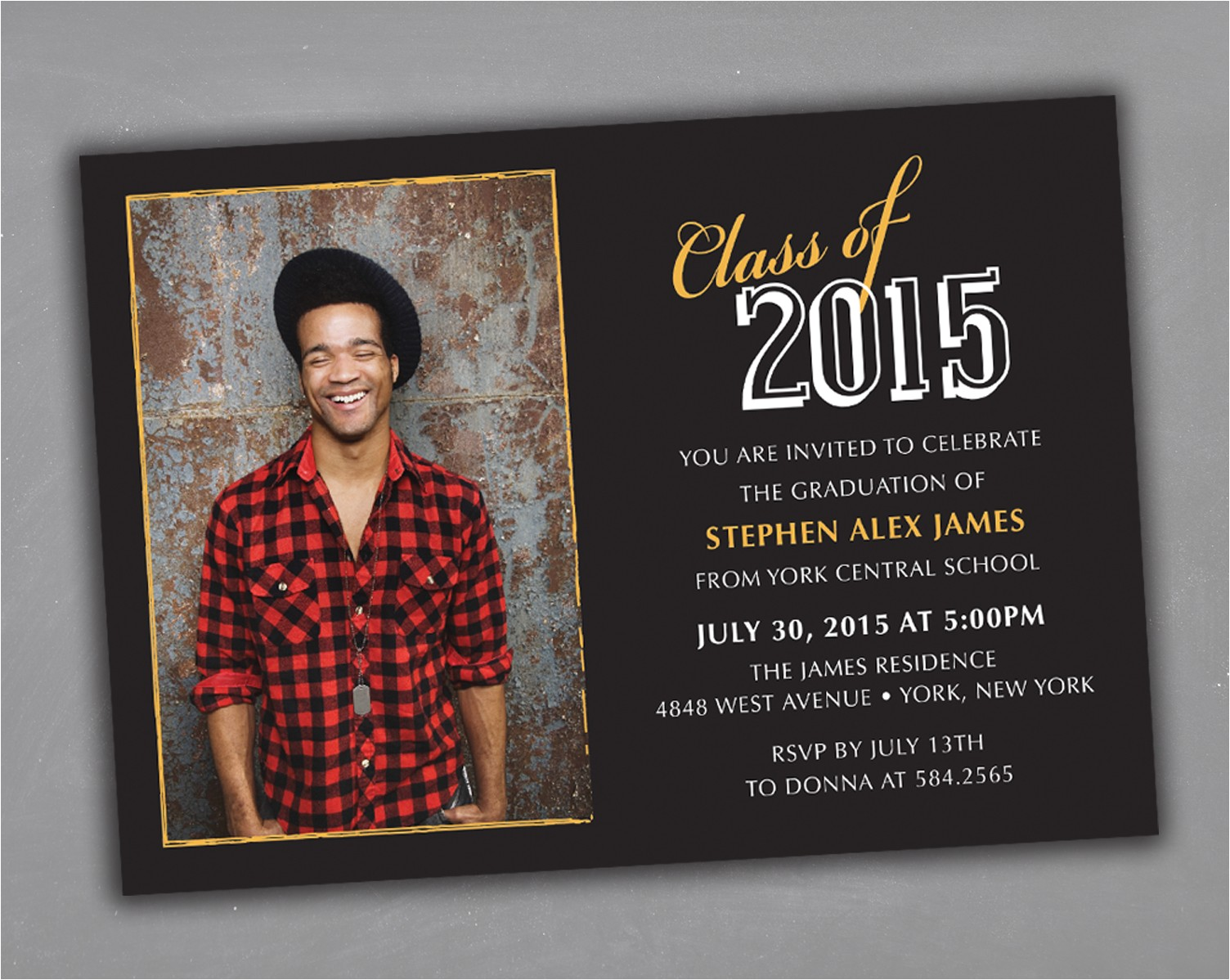 senior grad party invitations