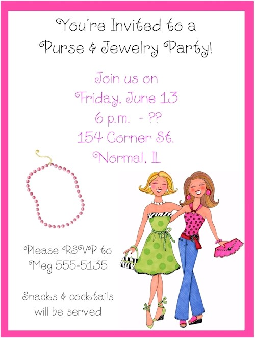 shopping party invitation wording 111020001