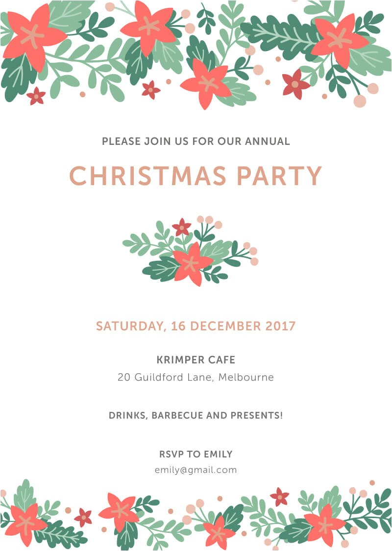 Simple Christmas Party Invitations Happy Holidays In Dp Christmas Party Invitations