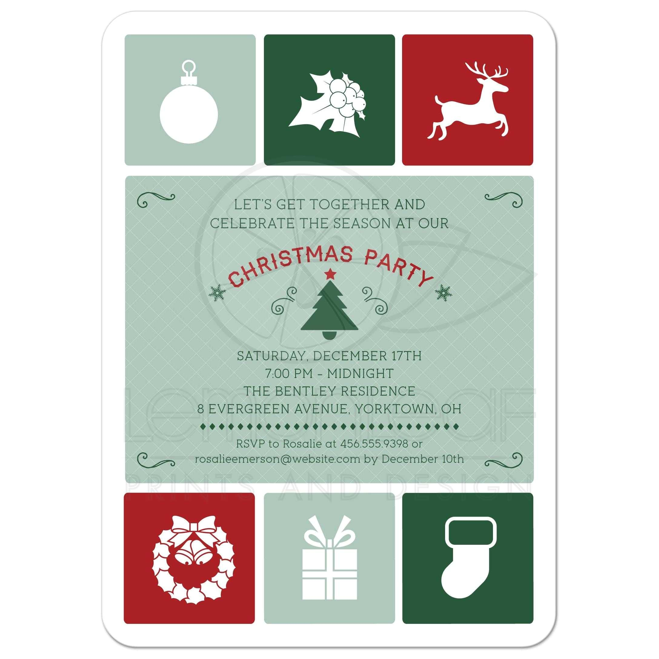 Simple Christmas Party Invitations Holiday Party Invitation Christmas Simple Icons
