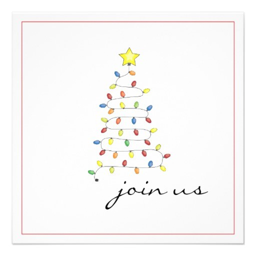 Simple Christmas Party Invitations Personalized Christmas Party Invitations