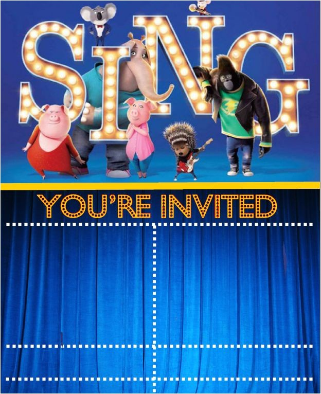 sing the movie printables