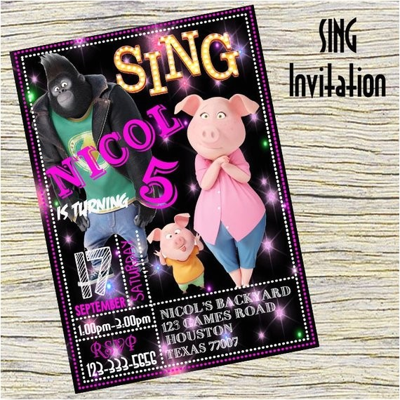 sing invitation sing personalizedsing