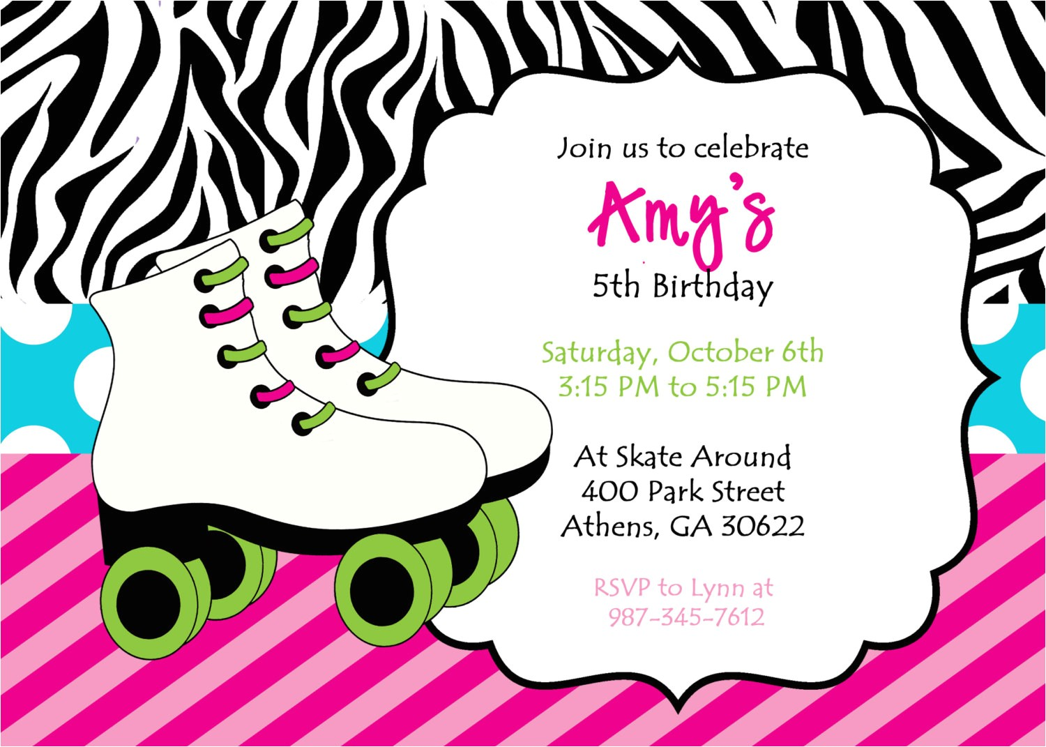 best skating party invitations cards ideas
