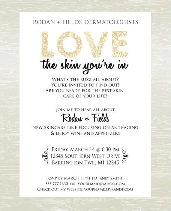 Skin Care Party Invitation Skin Care Party Invite Digital Jpg Only by Kateskanvas On Etsy