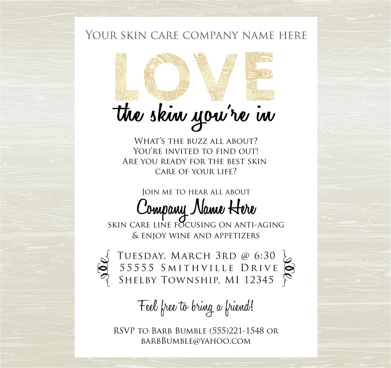 skin care party invite digital jpg only