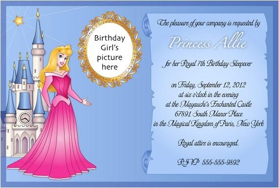 sleeping beauty birthday party invitation ideas