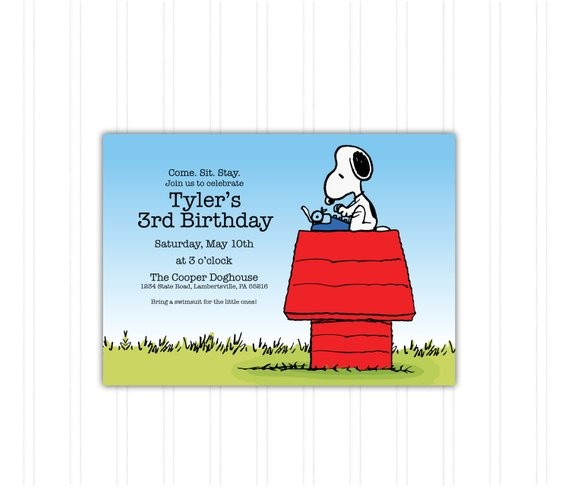 snoopy doghouse peanuts birthday