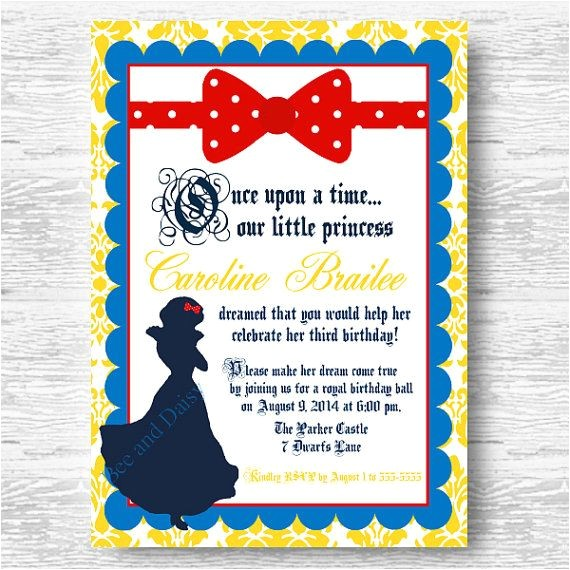 snow white invitations