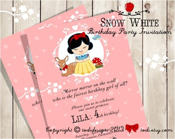 little princess snow white birthday