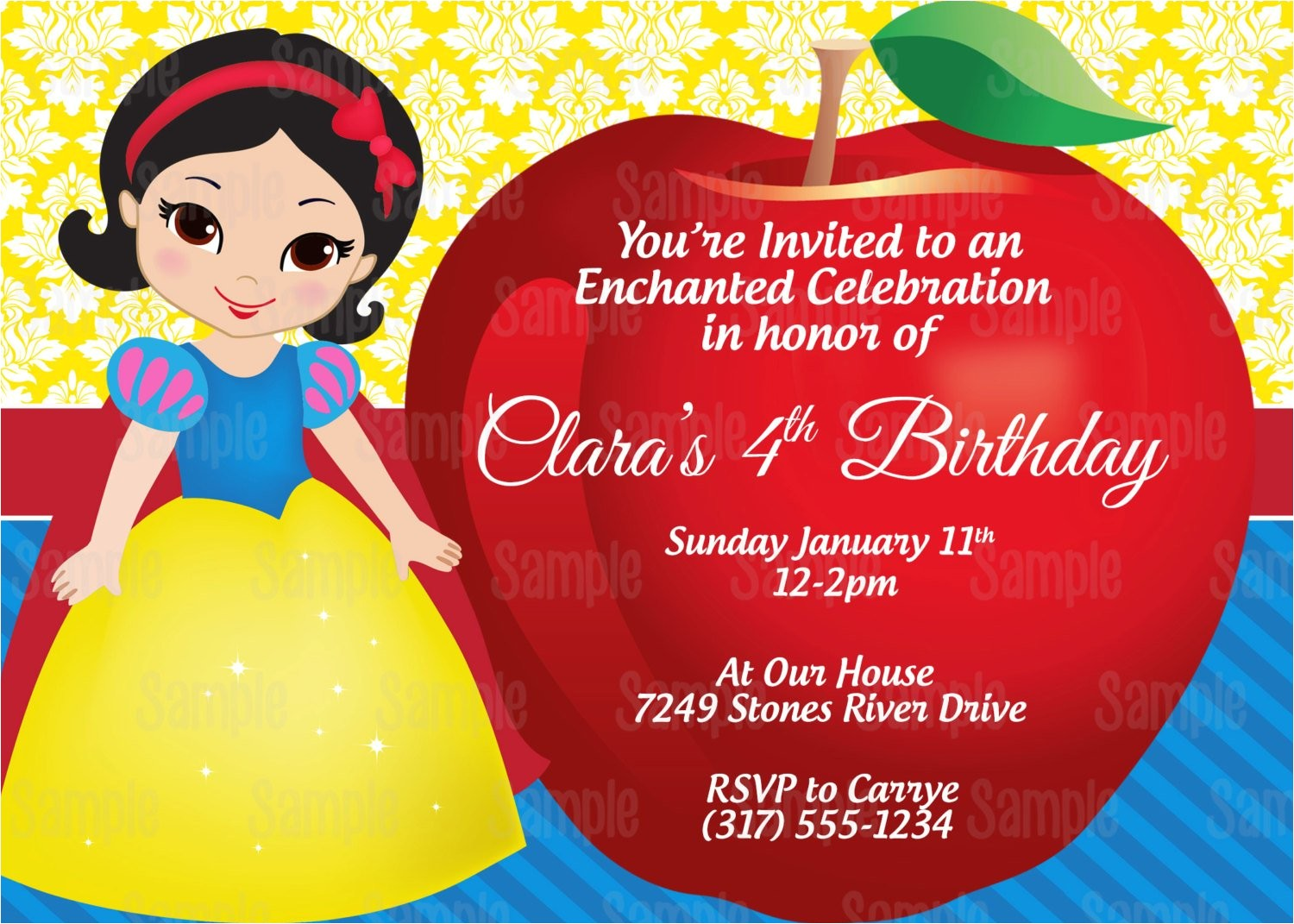 printable snow white birthday party