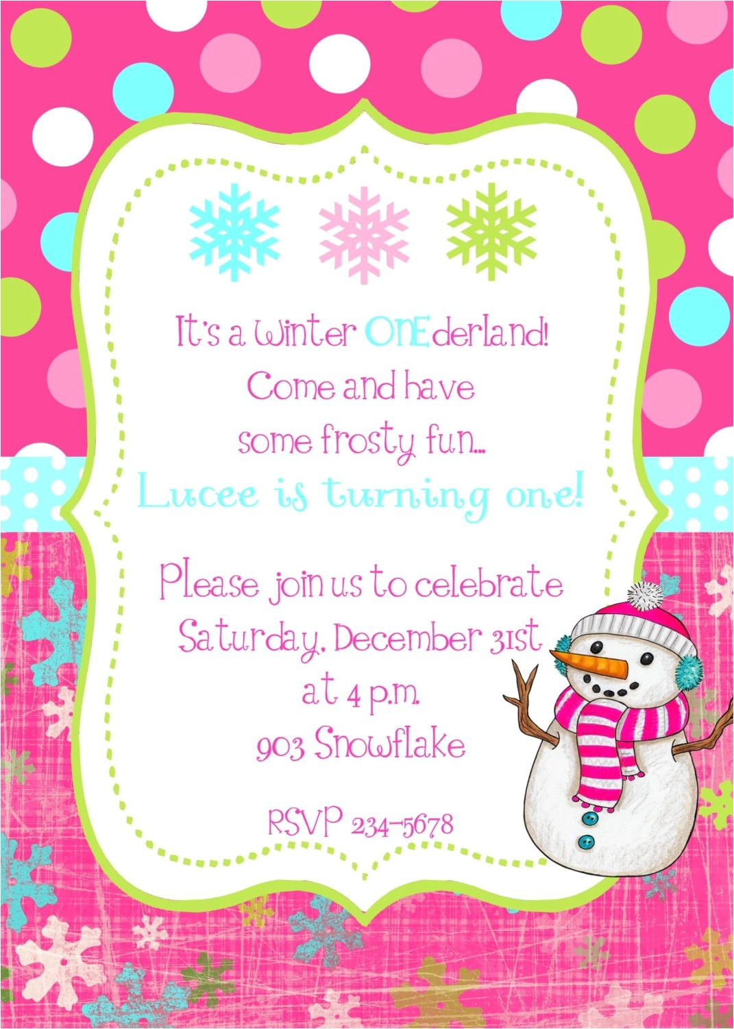 winter snowflake snowman birthday party