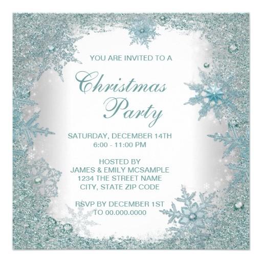 elegant christmas party invitation word