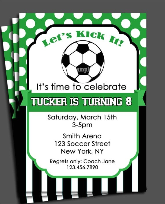 free soccer party invitation