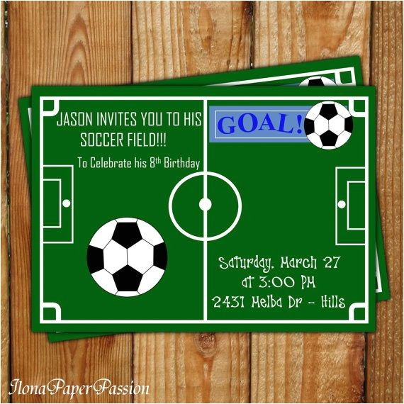 soccer birthday party invitation free printable