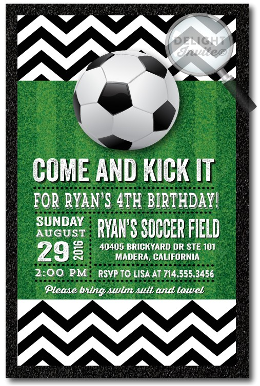 soccer party birthday invitations p 2808
