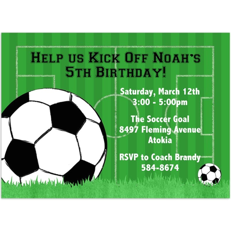 Soccer Party Invitation Template Free soccer Party Invitation