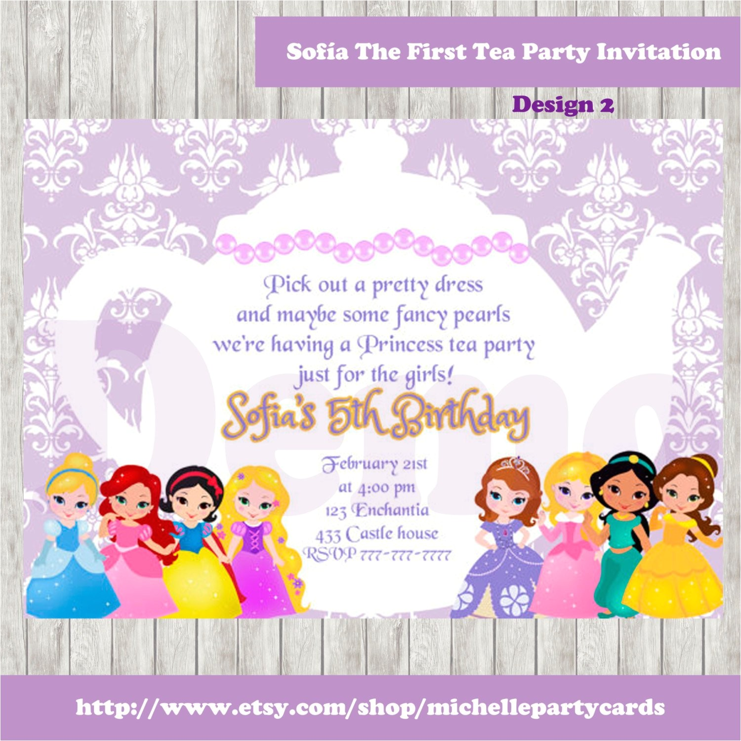 50off sofia the first tea party