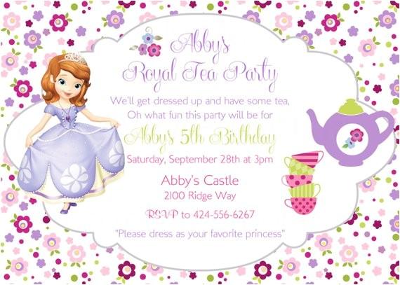 sofia first princess birthday tea party 4