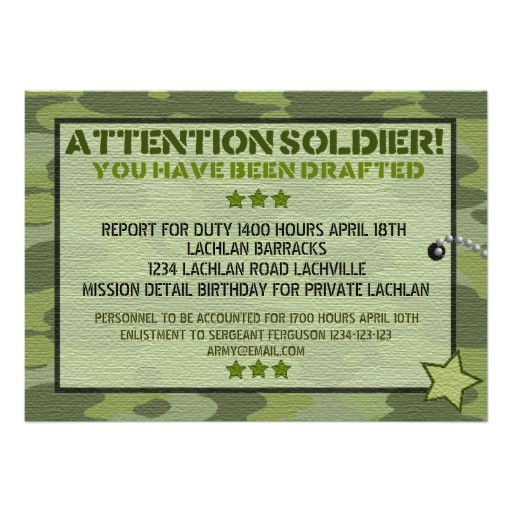 army invitations
