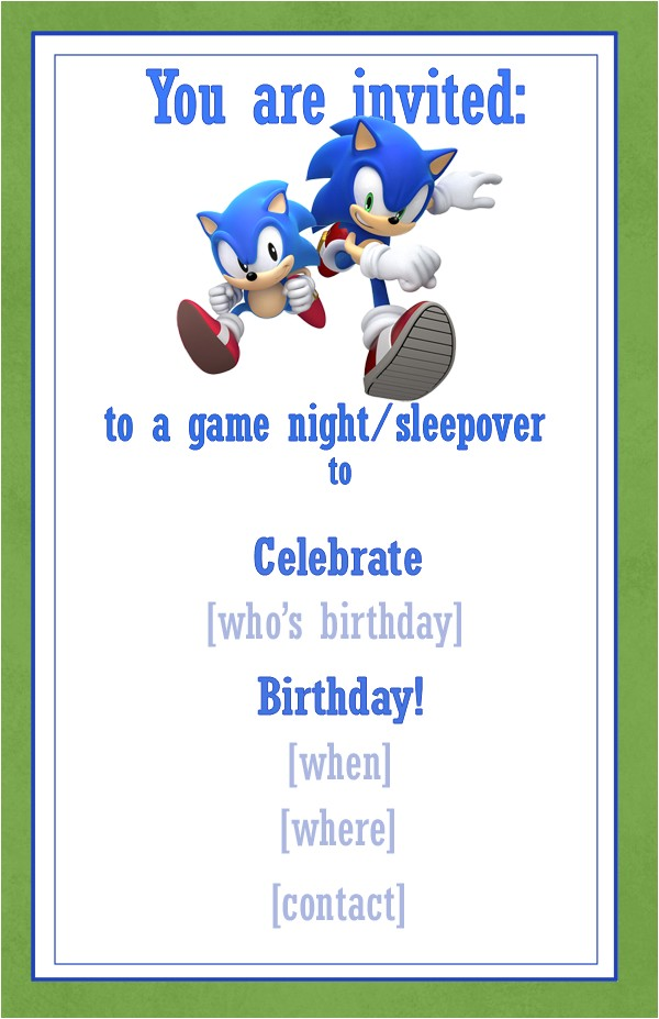 its a sonic party