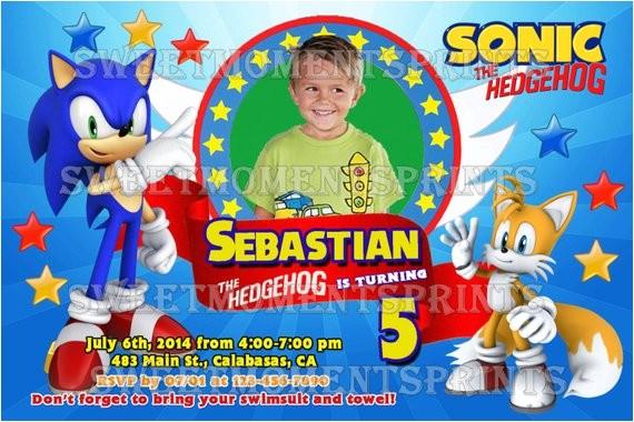 sonic the hedgehog custom photo birthday