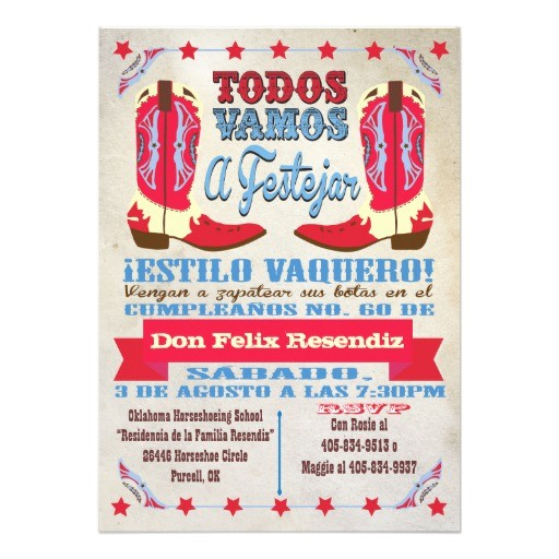 birthday invitation templates in spanish