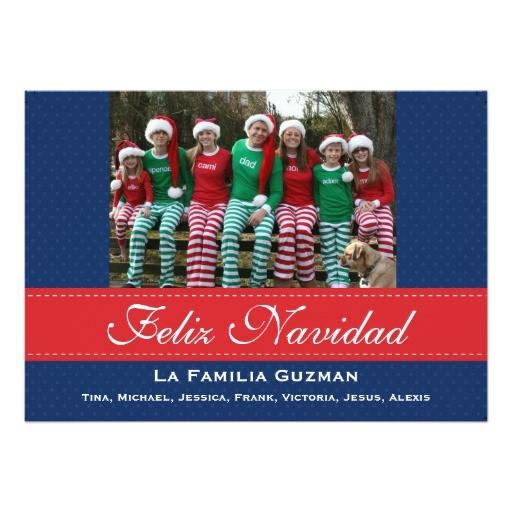 Spanish Christmas Party Invitations Espanol Feliz Navidad Spanish Christmas 5×7 Paper