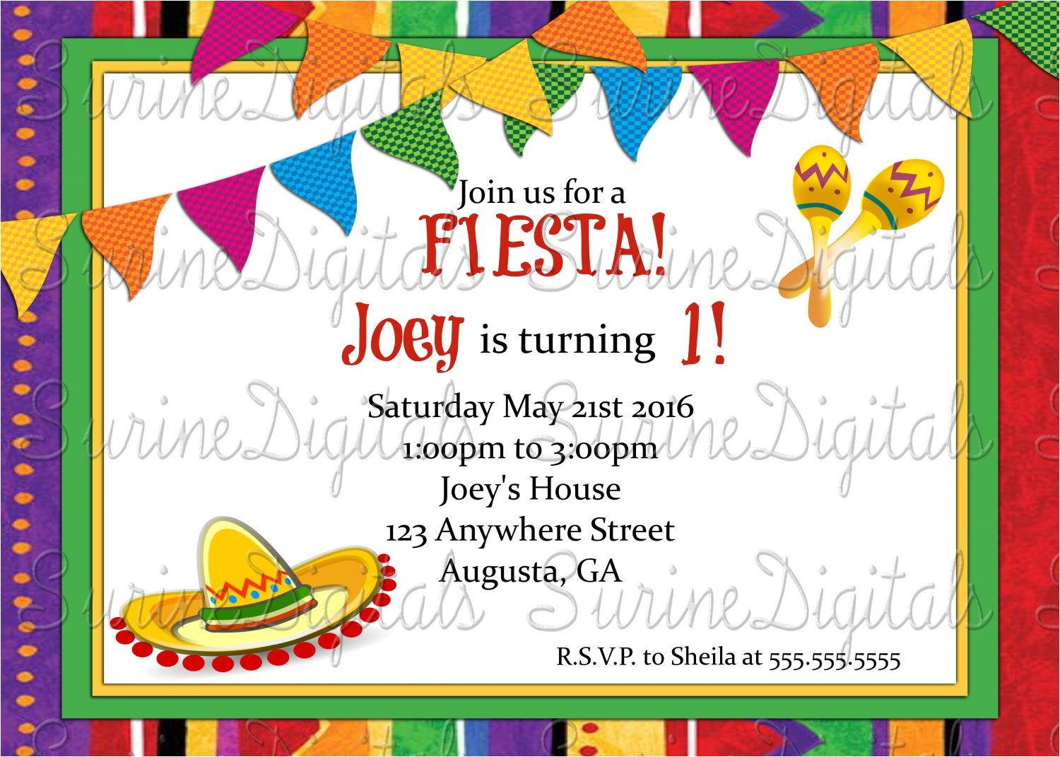 spanish birthday party invitations